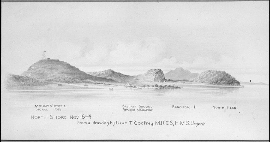 Sketch of Takarunga/Mount Victoria